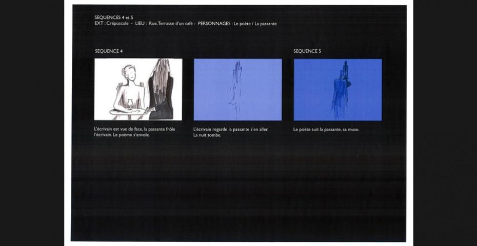 """Illustrations du poème de Baudelaire """"A une passante"""""""