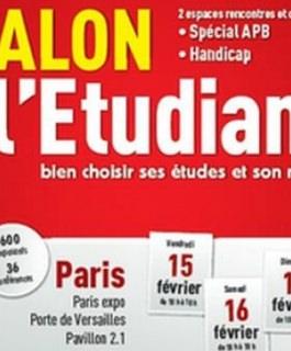 RDV au Salon de l'Etudiant de Paris du 15 au 17 février