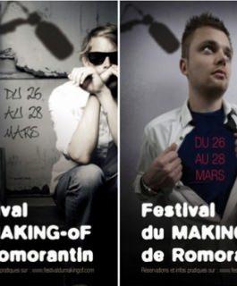 AFFICHES POUR LE FESTIVAL DU MAKING-OF DE ROMORANTIN : PISTE 1