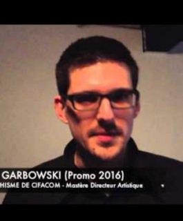 Alexandre Garbowski - Etudiant en Mastère Direction Artistique, Promotion 2016