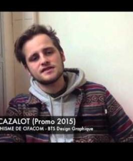 Maxime Cazalot - Etudiant BTS Design Graphique, Promotion 2015