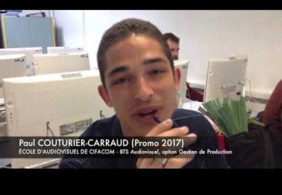 Etudiants du BTS Audiovisuel - Promotion 2017