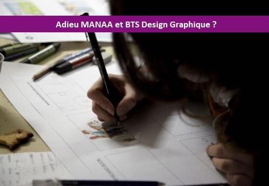 La MANAA et le BTS Design Graphique remplacés par le DNMADE