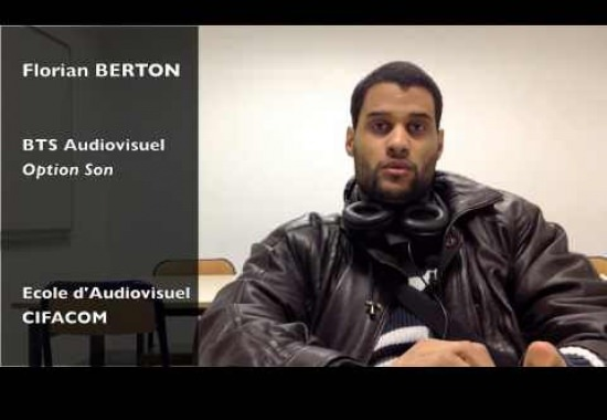 Florian Berton - Etudiant en 2ème année du BTS Audiovisuel option son