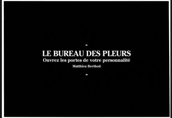 SALON DE THÉ(RAPIE) BUREAU DES PLEURS - MASTÈRE DIRECTEUR ARTISTIQUE, PROMOTION 2014